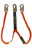 11901 - Guardian Tiger Tail Stretch Lanyard - Double Leg w/ Snap Hooks