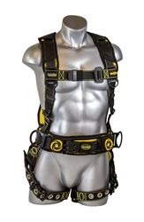 21065 - Guardian Cyclone Construction Harness w/ Chest Pass-Thru Buckle, Leg Tongue Buckles, & Waist Tongue Buckle