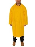 "C53217 - Tingley Industrial Work Yellow 48"" Coat with Slash Pockets, Hood Snaps and Detachable Hood"
