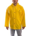 J56107 - Tingley Durascrim Yellow Jacket with Storm Fly Front and Attached Hood