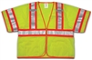 V70332 - Tingley Fluorescent Yellow-Green Solid Mesh Two-Tone Vest
