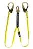 01231 - Guardian Shock Absorbing Lanyard - Double Leg w/ High Strength Steel Rebar Hooks & Steel Snap Hook