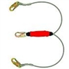 01246 - Guardian Coated Cable Lanyard - Double Leg w/ Removable Flame Resistant Cover