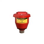 08201 - Justrite Small Safety Drum Funnel with Self Closing Cover