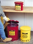 09100 - Justrite 6 Gallon Oily Waste Can w/ Foot Operated Cover