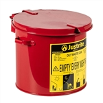 09200 - Justrite 2 Gallon Countertop Oily Waste Can