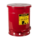 09300 - Justrite 10 Gallon Oily Waste Can w/ Foot Operated Cover