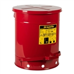 09508 - Justrite Soundgard Oily Waste Can w/ Foot Operated Cover