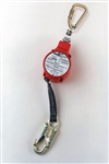 FL11-3-Z7/11FT - Miller MiniLite Fall Limiter - Steel Twist-Lock Carabiner and Swivel Shackle w/ Locking Snap Hook