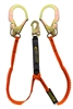 11903 - Guardian Tiger Tail Stretch Lanyard - Double Leg w/ Rebar Hooks