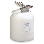 12260 - Justrite 2.5 Gallon (9L) Polyethylene Container with Stainless Steel Hardware