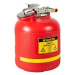 14765 - Justrite 5 Gallon (19L) Polyethylene Can with Stainless Steel Hardware