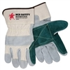 "MCR Safety Side Kick Glove, Green Double Leather Palm/Index Finger/Thumb, 2 1/2"" Safety Cuff - Medium  CLOSEOUT PRICING!!!!"