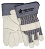 "MCR Safety Mustang Glove, Premium Grain Cowhide Full Feature Gunn Pattern 2 1/2"" Rubberized Safety Cuffs - Small"