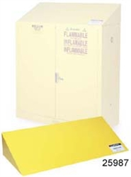 25987 - Justrite Yellow Safety Cabinet Cover 12-45 Gallon Cabinets