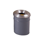 26604G - Justrite 4.5 Gallon Cease-Fire Waste Receptacle - Grey