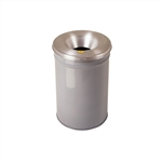 26612G - Justrite 12 Gallon Cease-Fire Waste Receptacle - Grey