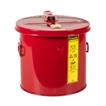 27603 - Justrite 3.5 Gallon Red Steel Dip Tank