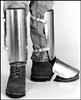 +323 - Ellwood Safety Aluminum Alloy Shin-Instep Guard Padded w/ Sponge Rubber & Fastened w/ Web Straps