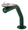 3380FR - Haws 3380 Round, Barrier-Free Green Pipe Pedestal w/ Stainless Steel Bowl