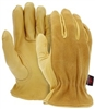 3505 - MCR Safety Grain Deerskin Drive with Split Back Glove - MD