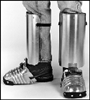 402-5.5 - Ellwood Safety Men's Aluminum Alloy Shin-Foot Guard w/ # 202-5 Foot and Shin Guard - 5 1/2""