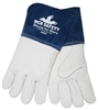 "4850 - MCR Safety Premium Grain Goatskin MIG/TIG, Sewn w/KEVLAR, 4"" Split Leather Cuff Welders Glove - LG"