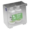 5182 - Horizon Mfg. Clear Plastic Double Bottle Eyewash Station