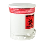 5935 - Justrite 10 Gallon (38L) Biohazard Waste Can with Foot Operated Cover