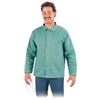 "600-GR - Chicago Protective 30"" Jacket Imported 9 oz. Green FR Cotton (Style B) - 4XL"