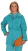 "600-GR-DOM - Chicago Protective 30"" Jacket Domestic 9 oz. Green FR Cotton (Style B) - 5XL"