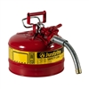 7225130 - Justrite Type Two Accuflow Safety Can Two and a Half Gallon Capacity