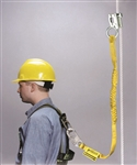 8174MLS4-Z7/4FTYL - Miller Manual Rope Grab with 4' Manyard® Shock-Absorbing Lanyard