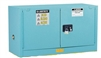 891322 - Justrite 12 Gallon Blue Steel Piggyback Safety Cabinet with Sure-Grip EX & 2 Self Closing Doors
