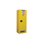 892200 - Justrite 22 Gallon Yellow Slimline Safety Cabinet with Sure-Grip EX and 1 Manual Door
