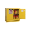 892320 - Justrite Yellow Undercounter Cabinet with Sure-Grip EX and 2 Self Closing Doors