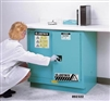 892322 - Justrite Blue Steel Undercounter Safety Cabinet 22 Gallon with Sure-Grip EX and 2 Self Closing Doors