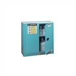 893002 - Justrite Blue Steel Safety Cabinet for Corrosives 30 Gallon with Sure-Grip EX and 2 Manual Close Doors