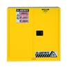 893030 - Justrite 40 Gallon Yellow Safety Cabinet for Combustibles with Sure-Grip EX & 2 Self Closing Doors