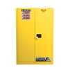 894510 - Justrite 60 Gallon Yellow Safety Cabinet for Combustibles with Sure-Grip EX & 2 Manual Doors