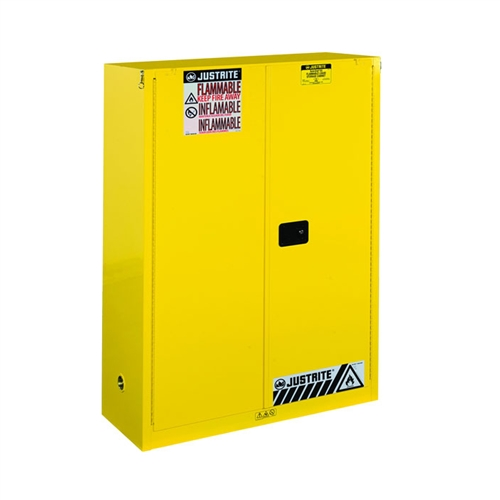 894530   Justrite 60 Gallon Yellow Safety Cabinet For Combustibles With  Sure Grip EX U0026 2 Self Closing Doors