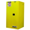896000 - Justrite Yellow 60 Gallon Safety Cabinet for Flammables with Sure-Grip EX and 2 Manual Doors