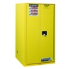 896010 - Justrite 96 Gallon Yellow Safety Cabinet for Combustibles with Sure-Grip EX & 2 Manual Doors