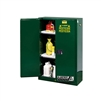 896024 - Justrite 60 Gallon Green Safety Cabinet for Pesticides with Sure-Grip EX and 2 Self Closing Doors