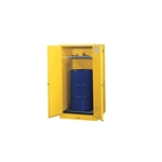 896270 - Justrite Sure-Grip EX (1) Vertical 55 Gallon Drum Storage Cabinet with 2 Self Closing Doors and Drum Rollers
