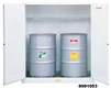 8991053 - Justrite White Drum Cabinet for Flammable Waste with Sure-Grip EX and 2 Manual Doors
