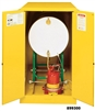 899300 - Justrite Sure-Grip EX Yellow (1) Horizontal 55 Gallon Drum Storage Cabinet with 2 Manual Doors