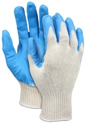 9682 Mcr Safety Cotton Glove With Blue Latex Coating