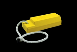 "AC3521-S - Checkers® TigerChocks™ 3500 Series Aviation 21"" Single Wheel Chock with 24"" Tow Rope"