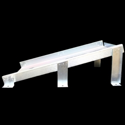 "AT2512HM - Checkers Roadblocksâ""¢ 2512 Series Horizontal Mounting Bracket for Model 2512 Chock"